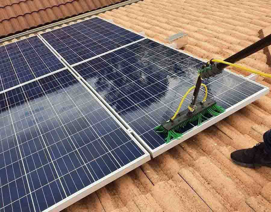 Special attention needs to be paid especially during a thorough clean as damage could render the solar panels unusable